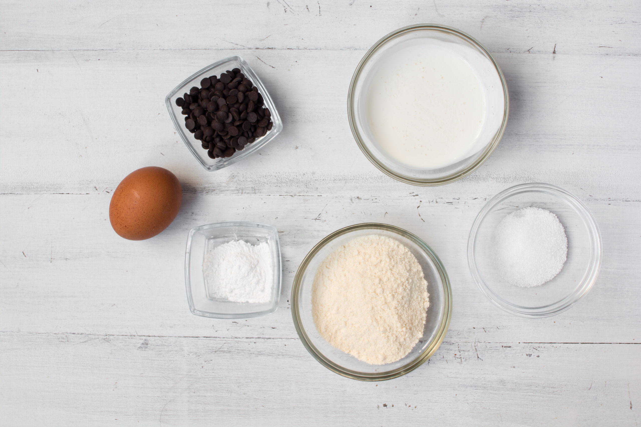 ingredients to make coconut muffins