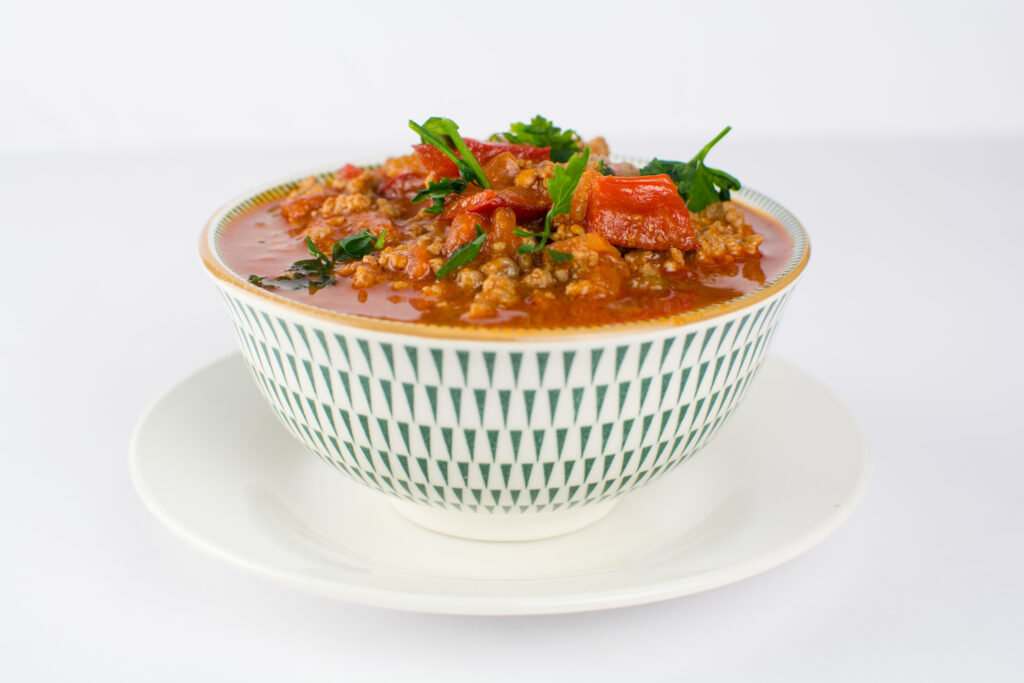 low carb beef chili