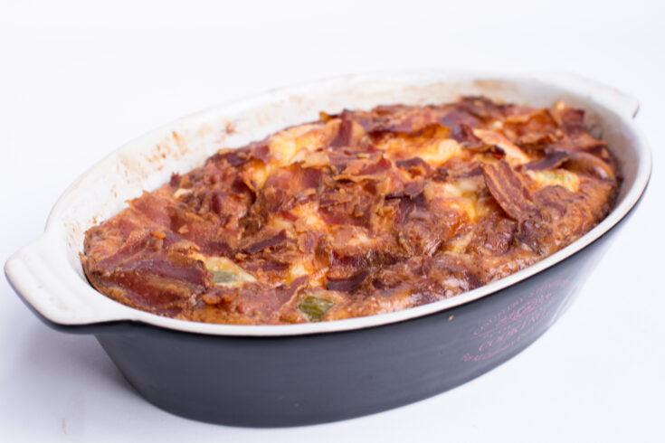 Keto Casserole With Bacon and Cauliflower