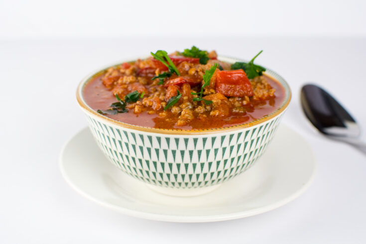 Easy Keto Beef Chili Made In An Instant Pot
