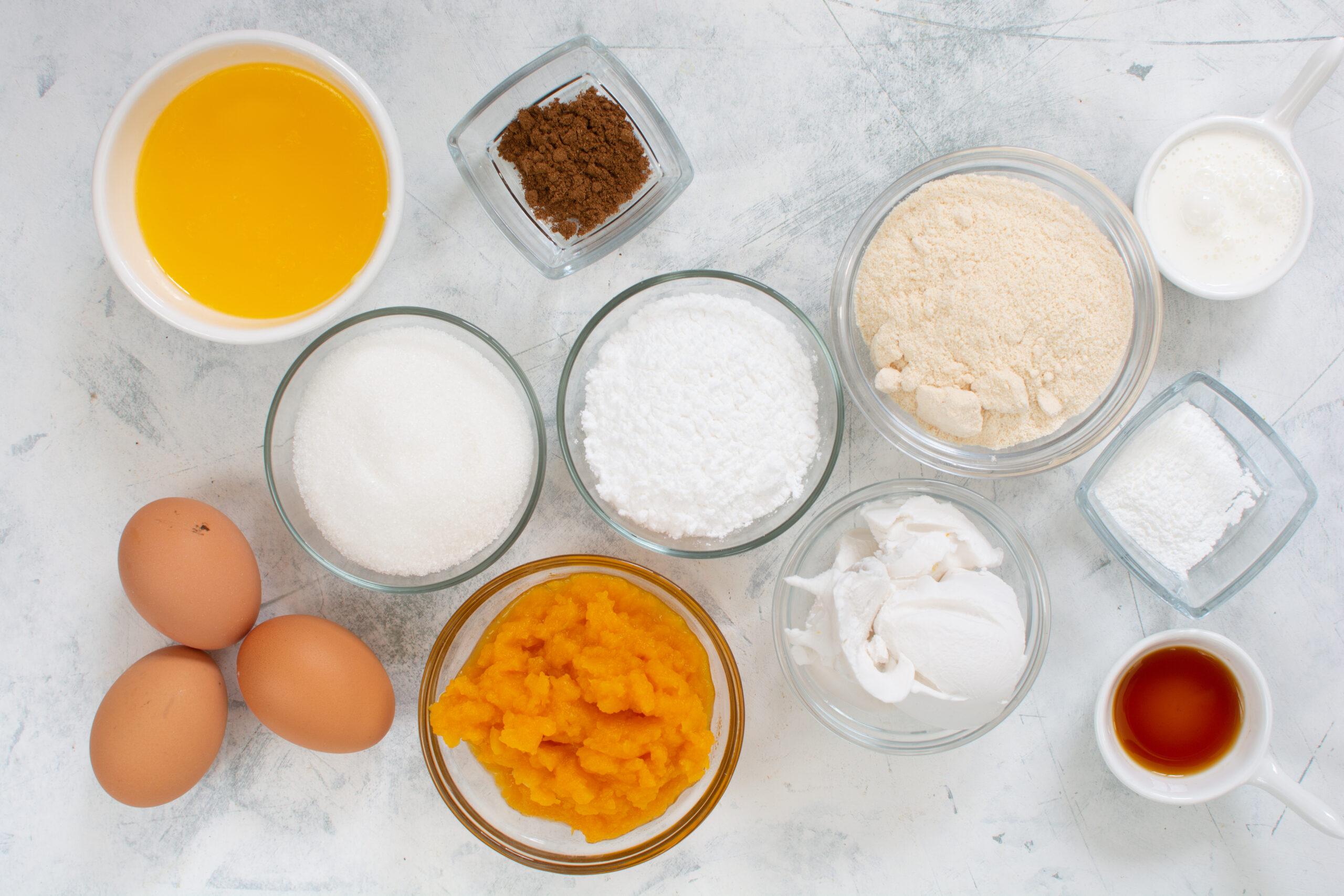 Cookie ingredients to make keto pumpkin cookies