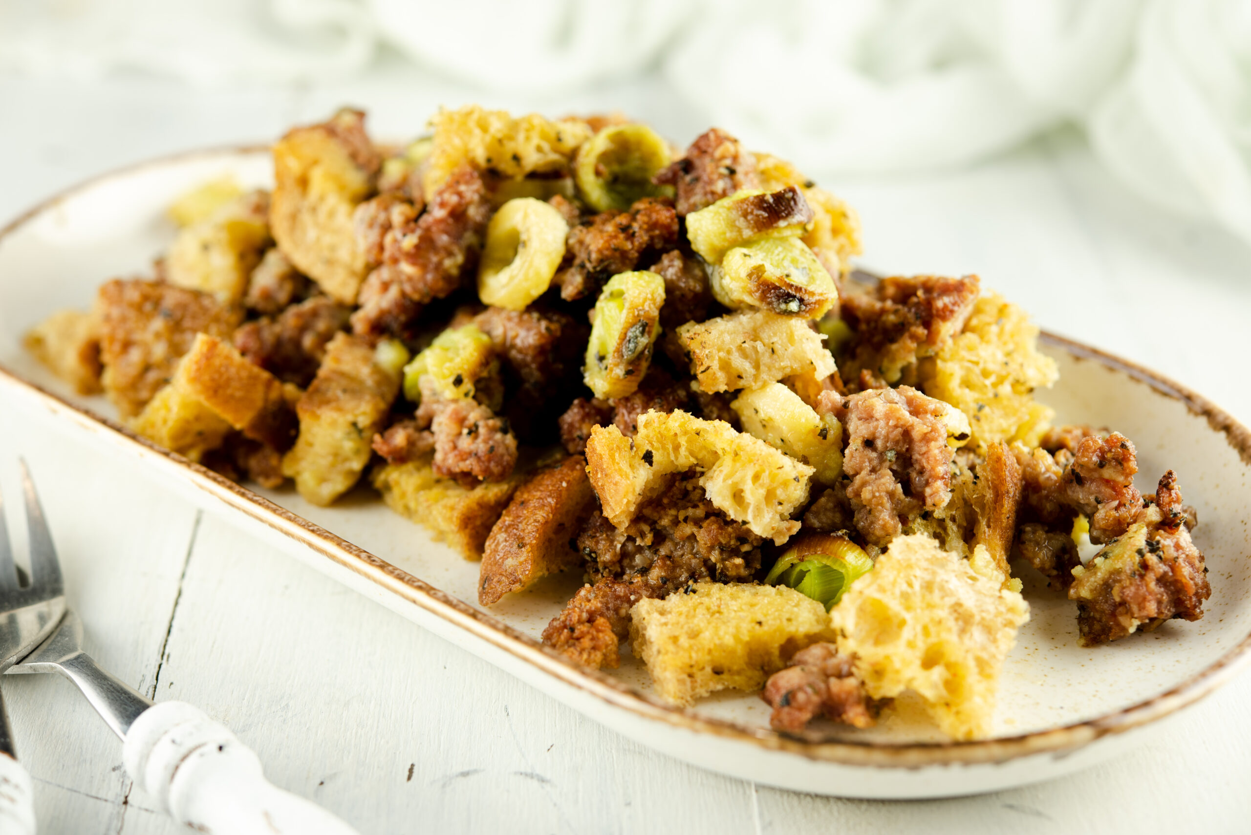 Keto Stuffing Recipe Served