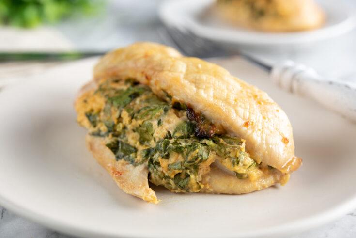 Keto Spinach Stuffed Chicken Breasts